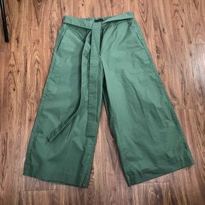 J. Crew Wide and Cropped Leg Pants size 2 Pull On